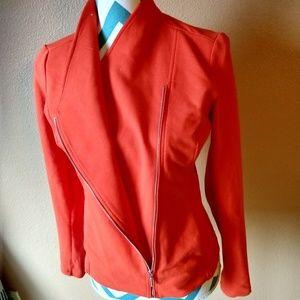 H by Halston orange jacket sz 2